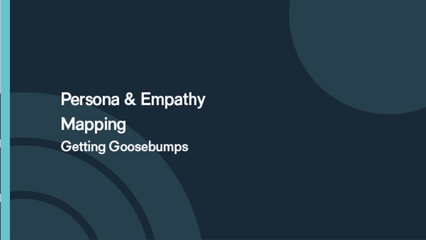 Persona and empathy mapping